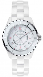J12 Automatic White Dial Ladies Watch