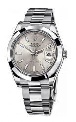 Rolex Datejust II 41mm Silver 116300