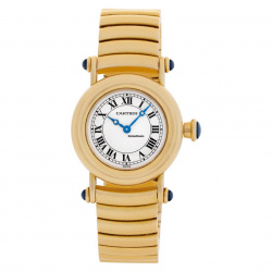 Cartier Diabolo Lady 18k Yellow Gold Quartz Papers Bj-1995 Bj-1995