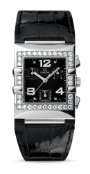 Constellation Quadra Stainless Diamond Black Chronograph