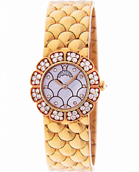 Yellow Gold Ladies Watch With Diamonds
