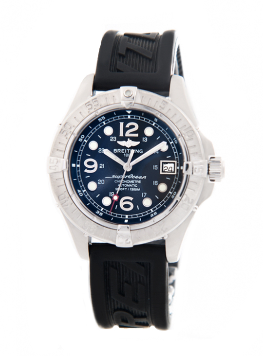 Breitling Superocean Stainless steel 42mm Black Dial