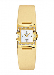 Constellation Quadra ladies quartz in yellow gold with diamond bezel