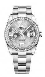 Rolex Datejust 36 Silver Floral Dial
