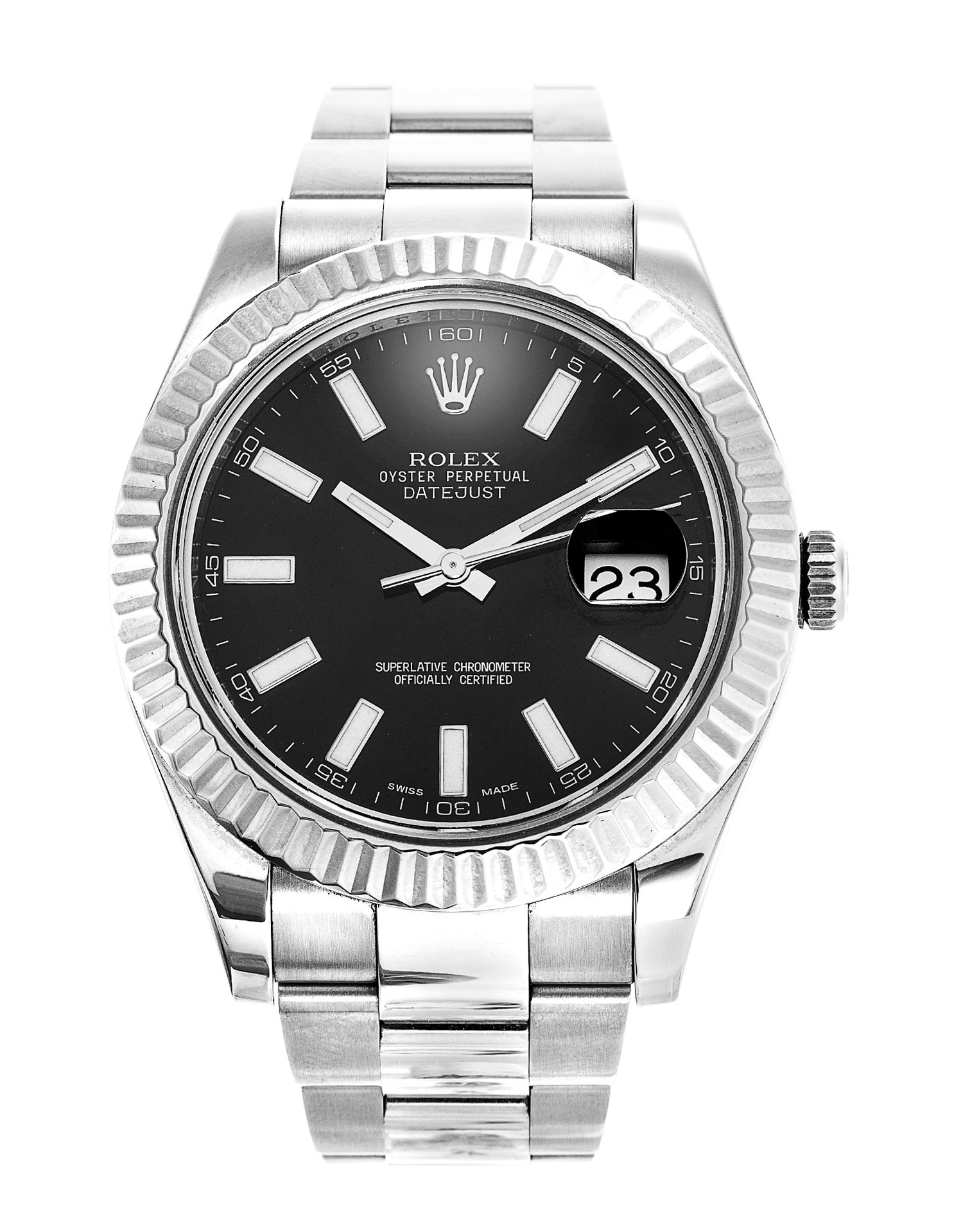 Rolex II - Steel and Gold White Gold - Fluted Bezel