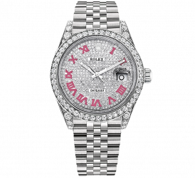 Rolex Diamond Datejust 36mm Steel Vignette Custom 1603