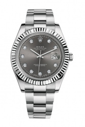 Datejust II 41mm Steel and White Gold