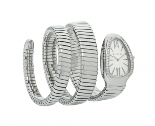 Serpenti Tubogas Stainless Steel Diamonds 35mm